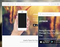 LifeTrackr - App Theme (Free Download [HTML&PSD])
