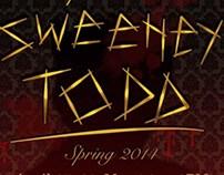 MTG Sweeney Todd Publicity Design