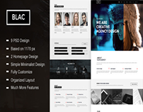 Blac - Ultimate Simple One Page PSD Template
