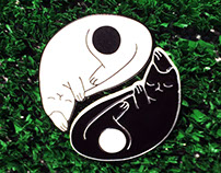 Yin Yang Cats - Enamel Pin Set