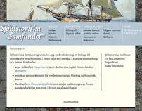 Webbplats åt Sjöhistoriska samfundet