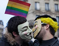 Pro Gay Marriage Demonstration, Paris.