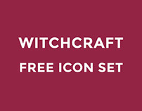 FREE witchcraft icon set