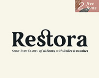 Restora Typeface with 2 Free Styles