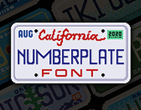 Numberplate - Font