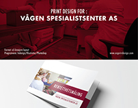 Vågen Spesialistsenter As Graphic design - A5 Brochure