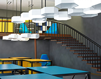 Interior design of an architectural studio for students