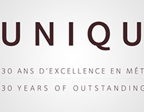 Unique ! 30 ans d'excellence en métier d'art