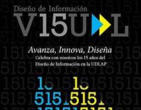 Poster para celebrar los 15 años de DIV en la UDLAP