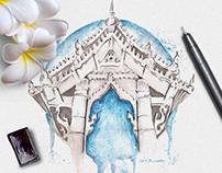 Travel Book - Watercolor Illustrations