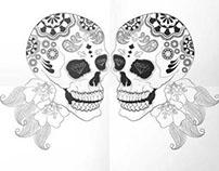 Skull Illustration & Gig Poster