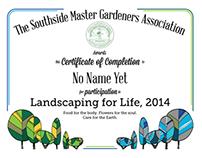 Certificate Design - Master Gardeners series, Mar 2014