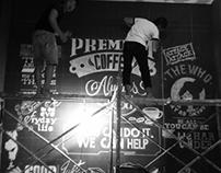White chalk board typo