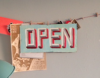 OPEN Handpainted Sign