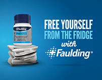 Faulding® Fridge Free Probiotics New Packs & Campaign