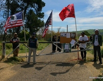 Covering the Occupation of Glen Cove, in Vallejo, CA