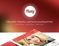 Flaty - A Beautiful Mobile Ui