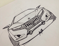 Sketches car n bike