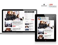 Training Concept. Blog & app layout