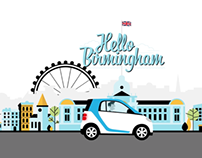 Car2go Birmingham Illustrations
