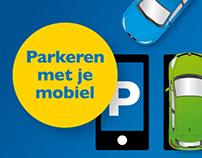 Campagne parkeren met je mobiel