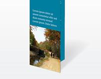 Cyan Trifold Brochure