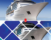 Cruise Ship Vector Graphic Design Template [Free PSD]