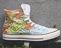 Custom Converse Chucks for Nordstrom Pop-In