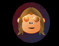 Lennon the Chimp (Using GIMP)