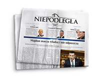 "Graphic design daily newspaper ""Dziennik Niepodległa""."