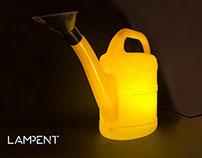 Watering pot floor lamp