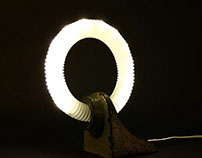 Upcycled LED table lamp