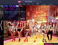 Mnet homepage redesign