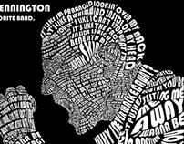 Chester Bennington Type Art