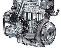 Volkswagen Technical Illustrations