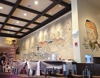 Palm Restaurant Mural Boston