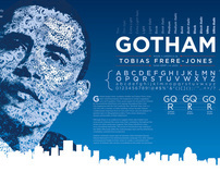Gotham Typography Poster by Michael Bower