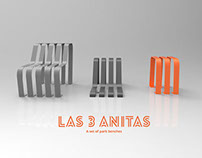 Las 3 Anitas, a set of park benches