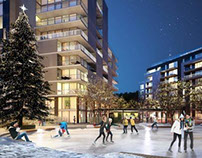 Architectural visualizations condominium neighborhood