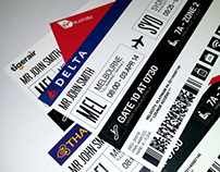 Airline Boarding Pass - Redesign