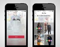 Free Fresh look ios app for like shop PSD