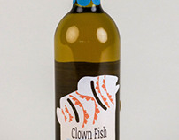 Clown Fish Wine Label