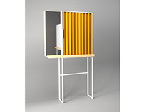 PLEAT /  a cosmetic cabinet