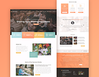 'Toys for Charity' Movement - Landing Page Concept