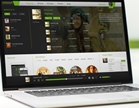 Saavn Website Concept