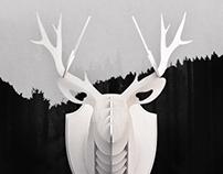 DIY Wooden Deer Head