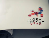 visual identity - editorial / democracia viva