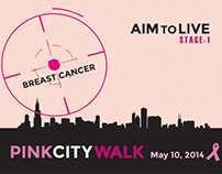 AIM TO LIVE Breast Cancer Awareness Print Design