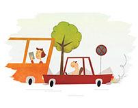Illustration series (Deň neprečítaných kníh)