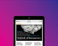 The Washington Post iPad Panel Design
